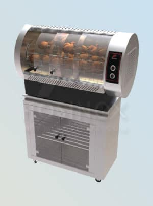Electric chicken grill with planetary rotation of spits HOSINOX